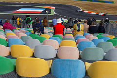 Magny-Cours tribunes Stock Images