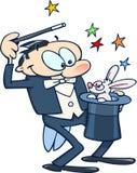 Mago con el conejo Foto de archivo libre de regalías