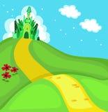 Mago de Oz Cuadrado de ciudad esmeralda Ilustración ilustración del vector