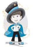 Mago del ragazzo in blu Fotografia Stock
