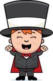 Mago Excited del niño stock de ilustración
