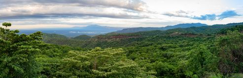 Mago National Park, Omo Valley, Etiopia. Aerial panorama view To Mago National Park, Omo Valley, Omorati Etiopia, Africa nature and wilderness royalty free stock image