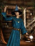 Mago nella libreria royalty illustrazione gratis