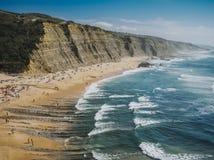 Magoito海滩,葡萄牙 免版税库存图片