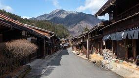 Magome Japan postad stad Arkivbild