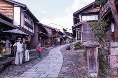 MAGOME, JAPAN - SEPTEMBER 18, 2017: De oude stad of oude buildin Stock Fotografie