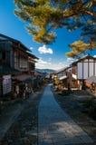 Magome stad, Japan Royaltyfria Bilder