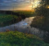 Magor marsh wildlife reserve sun water Royalty Free Stock Image