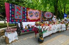 Magos al aire libre de la ciudad de los eventos Exposición y venta de productos de Fotografía de archivo libre de regalías
