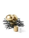 Magot de pension Photos stock