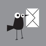Magpie letter stock illustration