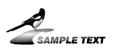 Magpie logotype Stock Photography