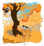 magpies 2 иллюстрация штока