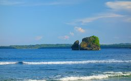 Magpupungko rock. On the island of Siargao in the Pacific Ocean, Philippines Stock Photos