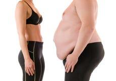 Magro e gordo Imagem de Stock Royalty Free