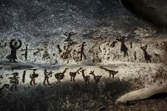 Magura cave paintings stock photography