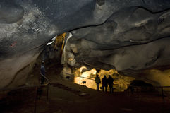 Magura jama w Bułgaria Prehistoryczni obrazy na skale Zdjęcie Royalty Free