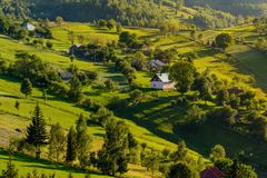 Magura village,a picturesque place from Brasov county, Transylvania, Romania. Magura village is one of the most beautifuls villages from Brasov county royalty free stock image
