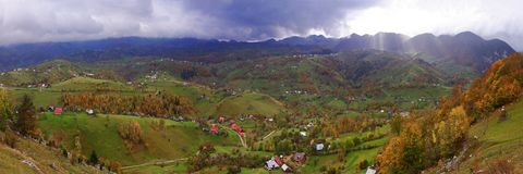 Magura village, Piatra Craiului National Park. Magura village, a small piece of heaven in Carpathian Mountains Stock Photos