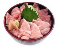 Maguro Sanshoku Donburi stock afbeelding