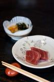 Maguro Sashimi. Maguro (blue-fin tuna) sashimi on a plate Stock Photography