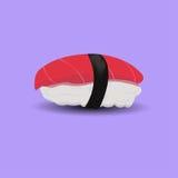 Maguro sushi the Japanese food. Fish sushi the Japanese food on violet Royalty Free Stock Photos
