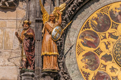 Magus and archangel Michael figures Stock Photo