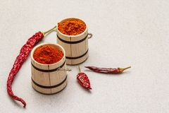 Free Magyar Hungarian Red Sweet And Hot Paprika Powder. Traditional Seasoning For Cooking National Food, Different Varieties Of Dry Royalty Free Stock Photos - 166265378