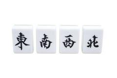Mah jong bricks with clipping path Royalty Free Stock Image