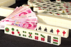 Mah jong game Stock Photography