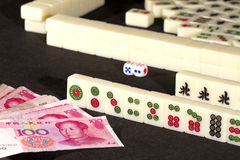 Mah jong game Stock Images
