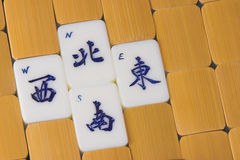 Mah Jong Game Pieces. Mah Jong Direction Game pieces Royalty Free Stock Image