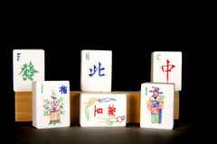 Mah Jong Tiles on Black Stock Photos