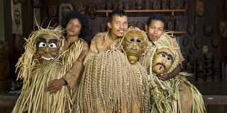 Mah Meri People. The Mah Meri is an ethnic group native to western part of Peninsular Malaysia. They are one of the 18 Orang Asli groups named by the Malaysian Royalty Free Stock Photo