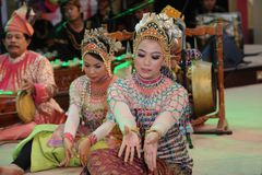 Mah yong dance. Mak yong is considered the most authentic and representative of Malay performing arts because it is mostly untouched by external sources Royalty Free Stock Photo