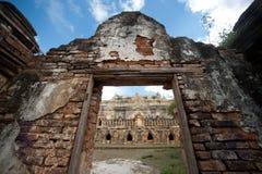 Maha Aung Mye Bon Zan kloster Arkivbilder