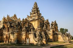 Maha Aung Mye Bonzan kloster, forntida städer, Inwa, Mandalay region, Myanmar Royaltyfria Bilder