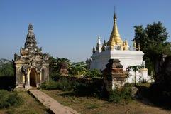 Maha Aung Mye Bonzan monaster Inwa, Myanmar (,) Zdjęcia Royalty Free
