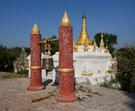Maha Aung Mye Bonzan monaster Inwa, Myanmar (,) Obraz Royalty Free