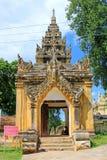 Maha Aungmye Bonzan Monastery Entrance, Innwa, Myanmar Stock Photo