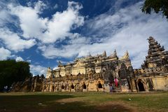 Maha Aungmye Bonzan Monastery Inwa Regione di Mandalay myanmar fotografie stock libere da diritti