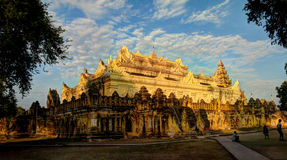 Maha Aungmye Bonzan temple at sunset, Ava Myanmar. Maha Aungmye Bonzan temple at sunset, Ava, Myanmar Stock Photography