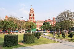 Maha Bandula Park in Rangoon Fotografie Stock Libere da Diritti