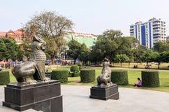 Maha Bandula Park in Rangoon Immagine Stock Libera da Diritti