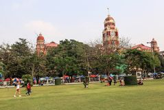 Maha Bandula Park in Rangoon Fotografia Stock Libera da Diritti