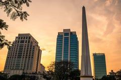 Maha Bandula park. Sunset city view of Yangon, Myanmar. Burma Asia. royalty free stock photos