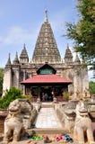 Maha Bodhi Phaya Pagoda in Bagan, Myanmar Fotografia Stock Libera da Diritti