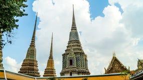 Maha Chedi Si Ratchakan på Wat Pho Bangkok Pagoda Thailand Royaltyfri Fotografi