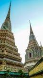 Maha Chedi Si Ratchakan på Wat Pho i Bangkok Thailand Arkivbilder