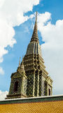 Maha Chedi Si Ratchakan Temple på Wat Pho i Bangkok Arkivbild